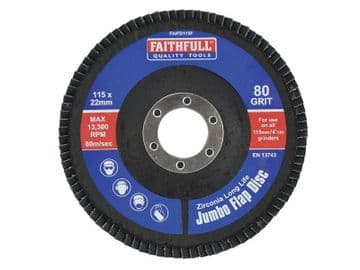 Abrasive Jumbo Flap Disc 115mm Fine